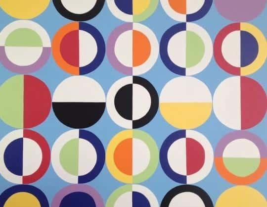 circular and colourful design