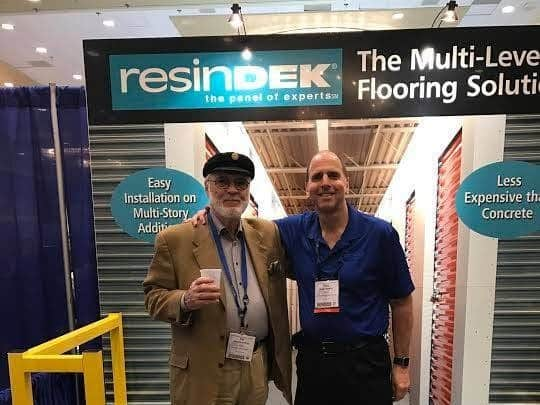 Two men standing and smiling at the New Orleans Self Storage Association's 2017 Spring Conference & Trade Show