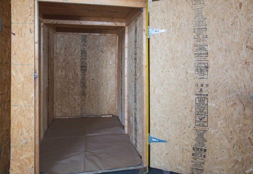 Inside of an XYZ Storage Mobile Storage Unit