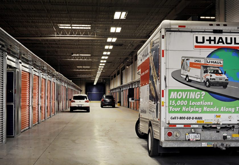 U-Haul Rental Track at XYZ Storage Toronto West Location