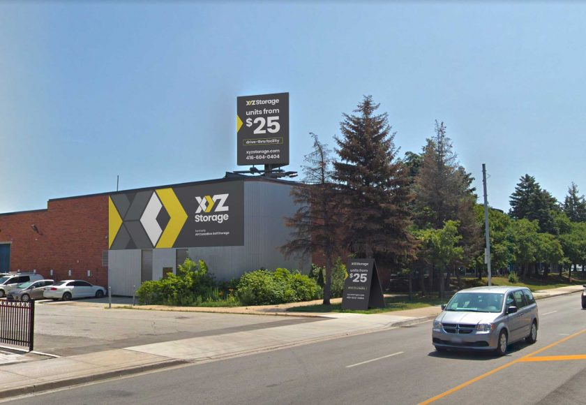 XYZ Storage Toronto West Location Exterior