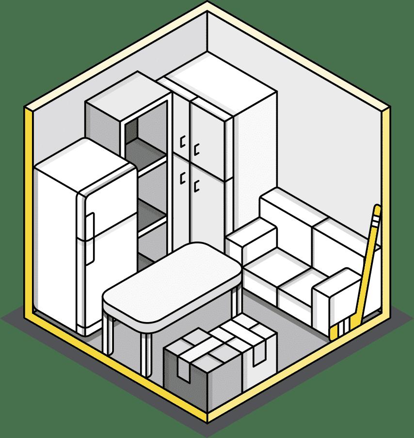 Medium storage illustration