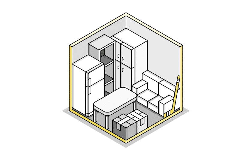 medium storage illustration