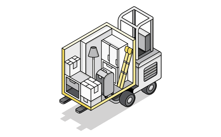mobile truck storage illustration