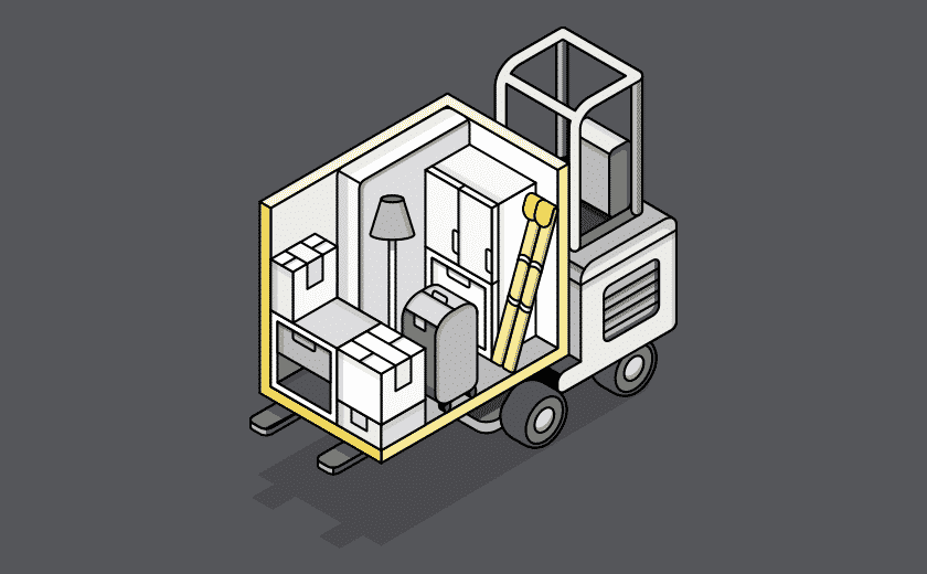 mobile storage illustration