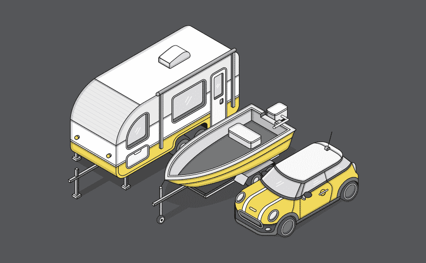 parking storage illustration