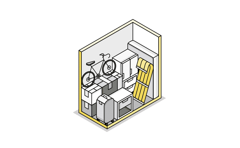 small storage illustration