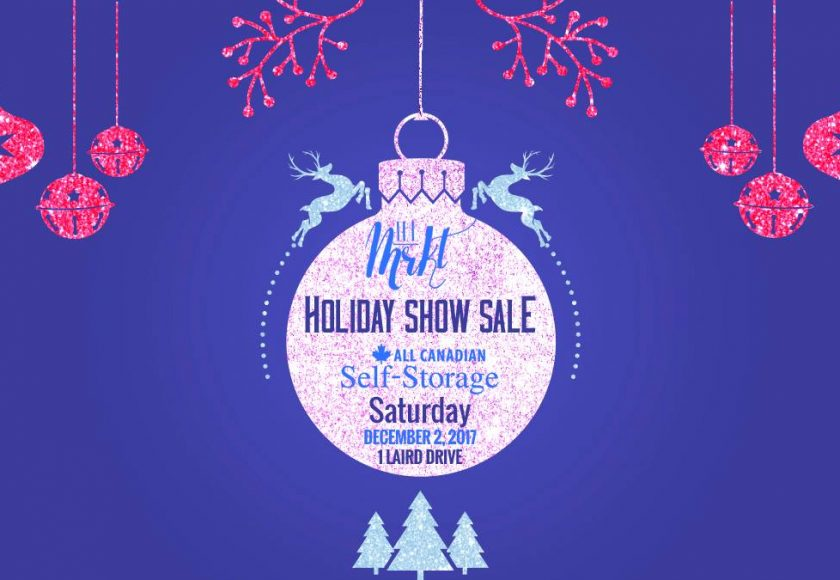 theMKRT Holiday Show Sale poster, Saturday December 2, 2017 at 1 Laird Drive