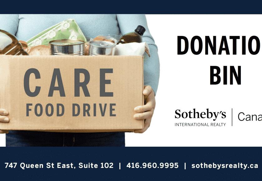 Care Food Drive Donation Bin