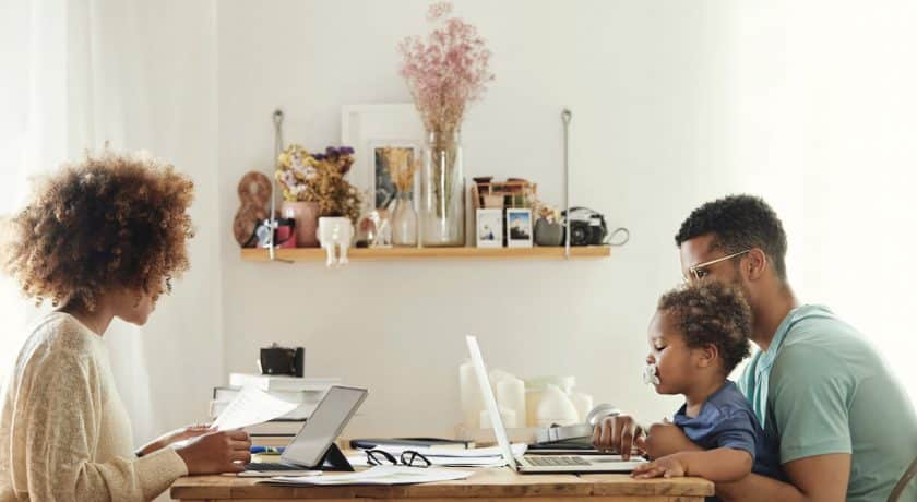 create space when working from home